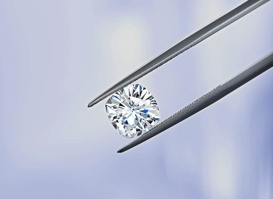 Moissanite close-up